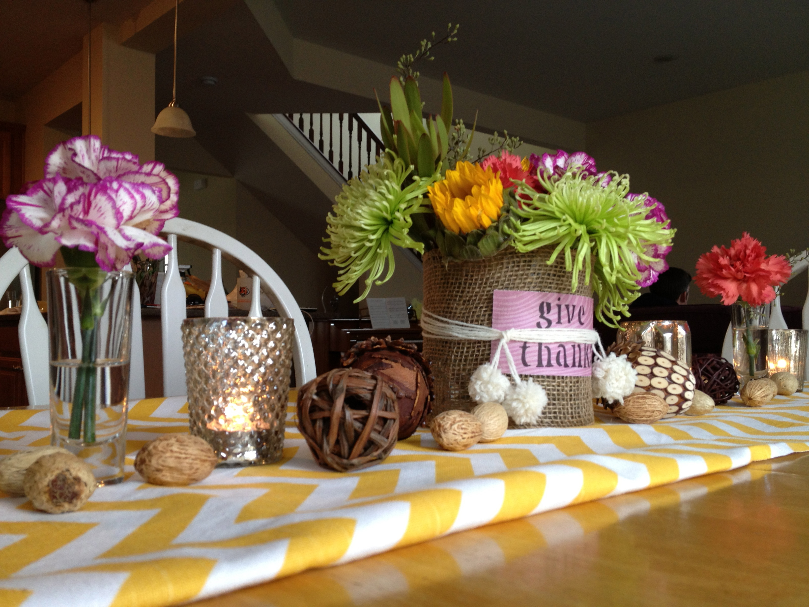 Dare to diy thanksgiving table centerpiece two purple