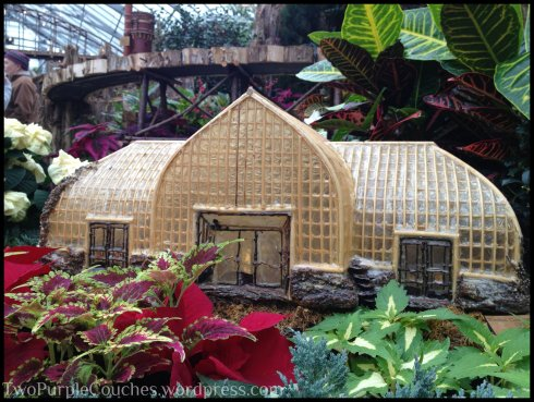 mini Krohn Conservatory - Two Purple Couches