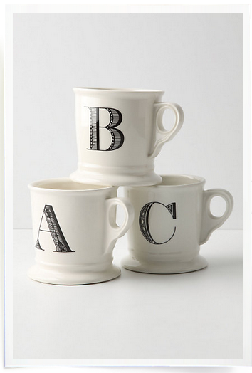 Anthro initial mug