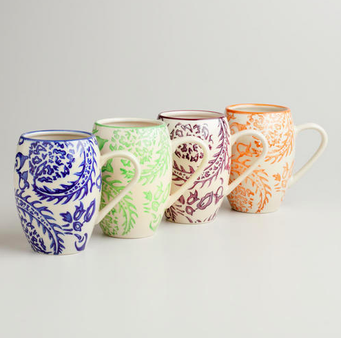 World Market sophia mugs