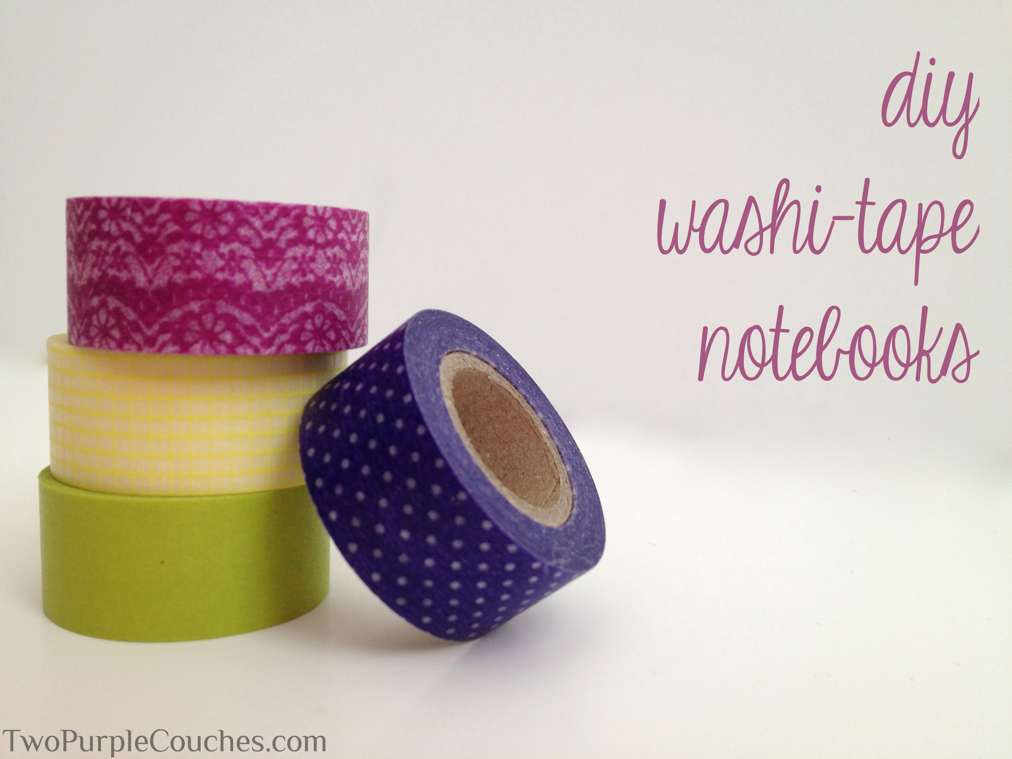 diy washi tape notebooks two purple couches. Black Bedroom Furniture Sets. Home Design Ideas