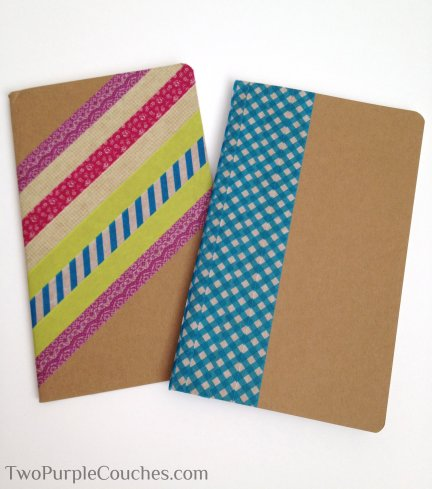washi notebooks -- TwoPurpleCouches.com