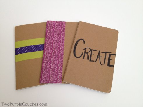 diy notebooks -- TwoPurpleCouches.com