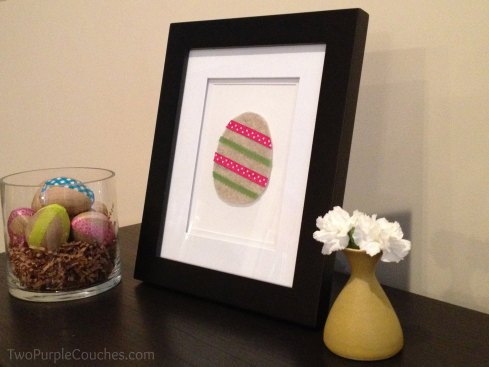 framed felt egg -- diy, crafting -- TwoPurpleCouches.com