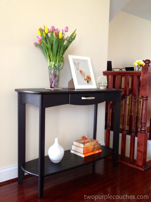 entryway console -- twopurplecouches.com