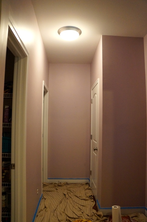 hallway in Behr Premium Plus Ultra in French Lilac