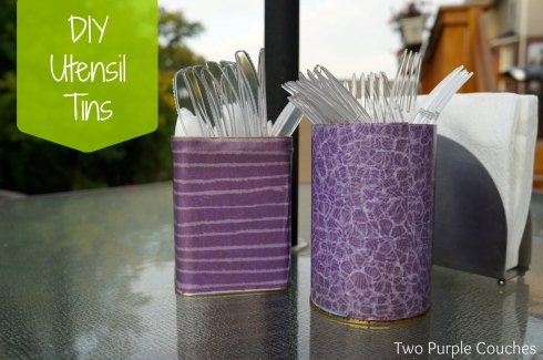 DIY Utensil Tins
