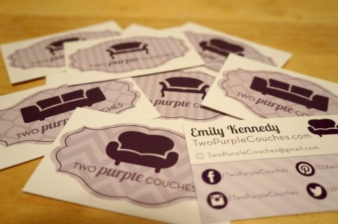 blogger business cards / twopurplecouches.com