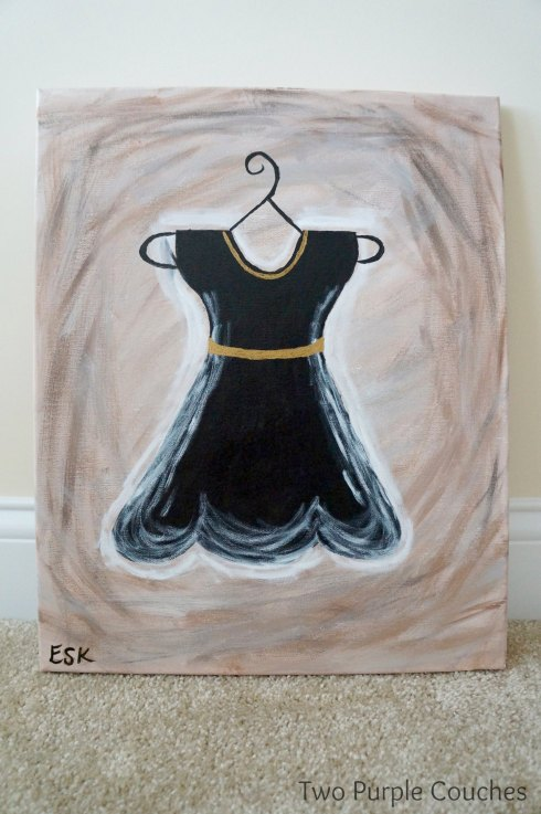 black dress painting