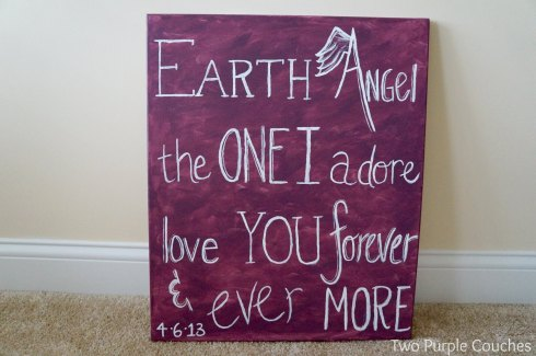 diy lyrics on canvas