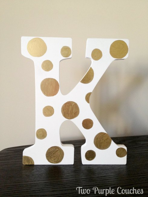 polka-dotted letter, letter K
