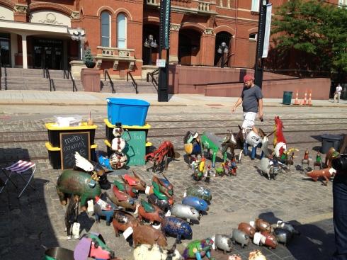city flea vendor