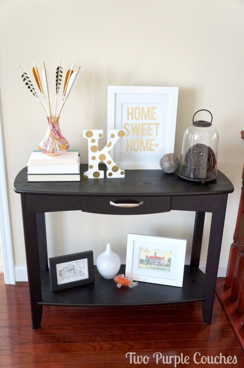 Entryway Console Styling